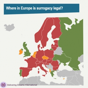 Where is Surrogacy legal in Europe?
