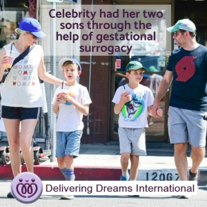 Celebrity had her two sons through the help of gestational surrogacy