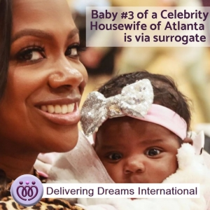 Baby #3 of a Celebrity Housewife of Atlanta is via Surrogate