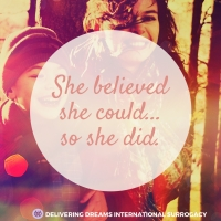 She believed she cood... so she did