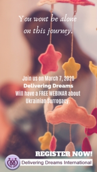 DELIVERING DREAMS INTERNATIONAL SURROGACY AGENCY BRINGS THE OPPORTUNITY OF AFFORDABLE SURROGACY IN UKRAINE TO COUPLES WITH AN INFORMATION WEBINAR
